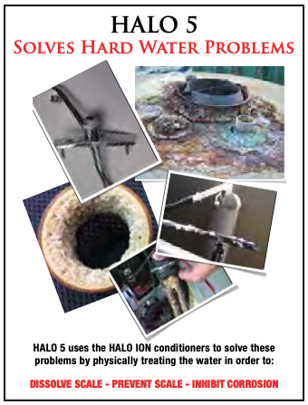 Solves hard water problems